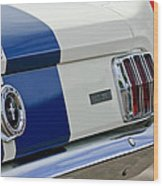 1966 Shelby Gt 350 Taillight Wood Print