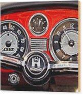 1966 Volkswagen Vw Karmann Ghia Steering Wheel Wood Print