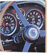 1967 Aston Martin Db6 Volante Steering Wheel 2 Wood Print