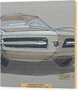 1967 Barracuda  Plymouth Vintage Styling Design Concept Rendering Sketch Fred Schimmel Wood Print