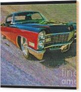 1967 Cadillac Coupe Wood Print