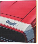 1967 Chevrolet Camaro Ss 350 Convertible Hood Emblem Wood Print