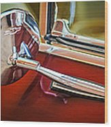 1967 Chevrolet Camaro Ss 350 Rear View Mirror Emblem Wood Print