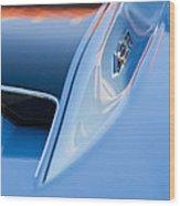 1967 Chevrolet Corvette 427 Hood Emblem 3 Wood Print