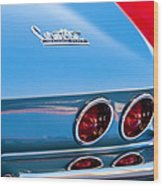 1967 Chevrolet Corvette Taillights Wood Print
