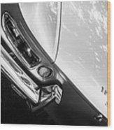 1967 Ferrari 330 Gts Taillight Emblem -0406bw Wood Print