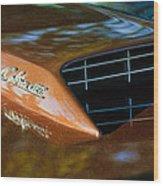 1967 Ford Mustang Cobra Jet Hood Emblem Wood Print