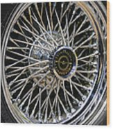 1967 Ford Thunderbird Wire Wheel Wood Print