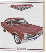 1967 G T O Pontiac Wood Print