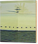1967 Lincoln Continental Grille Emblem - Hood Ornament Wood Print