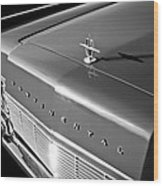 1967 Lincoln Continental Hood Ornament - Emblem -646bw Wood Print