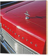 1967 Lincoln Continental Hood Ornament - Emblem -646c Wood Print
