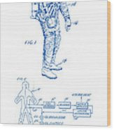 1967 Nasa Astronaut Ventilated Space Suit Patent Art 2 Wood Print