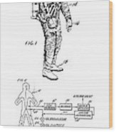 1967 Nasa Astronaut Ventilated Space Suit Patent Art 3 Wood Print