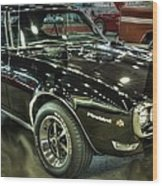 1967 Pontiac Firebird 400 Reverse Selective Color Wood Print