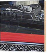 1967 Pontiac Gto Engine Emblem Wood Print