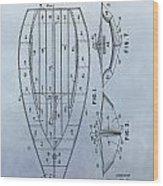 1967 Sailboat Patent Wood Print