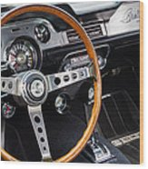 1967 Shelby Gt 350 Signed Dash Wood Print