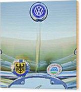 1967 Volkswagen Vw Karmann Ghia Hood Emblem Wood Print