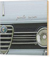 1968 Alfa Romeo Giulia Super Grille Wood Print