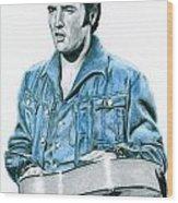 1968 Blue Denim Suit Wood Print