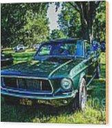 1968 Bullitt Mustang Wood Print