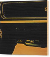 1968 Camaro Ss Front End Closeup  Wood Print