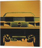 1968 Camaro Ss  Full Rear Wood Print
