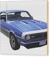 1968 Chevrolet Camaro 327 Muscle Car Wood Print