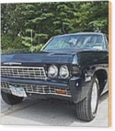 1968 Chevrolet Impala Sedan Wood Print by John Telfer