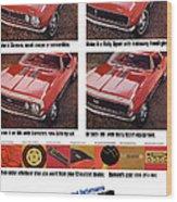 1968 Chevy Camaro Wood Print
