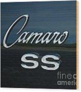1968 Chevy Camaro Ss Logo Wood Print