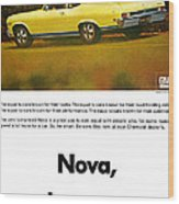 1968 Chevy Nova - The Great Equalizer Wood Print