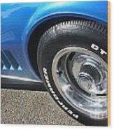 1968 Corvette Sting Ray - Blue - Side - 8923 Wood Print
