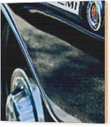 1968 Dodge Charger Rt Coupe 426 Hemi Upgrade Emblem Wood Print