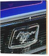 1968 Ford Mustang Cobra Gt 350 Grille Emblem Wood Print
