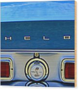1968 Ford Shelby Gt500 Kr Convertible Rear Emblems Wood Print