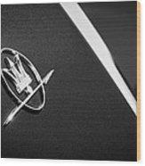 1968 Maserati Ghibli Emblem Wood Print