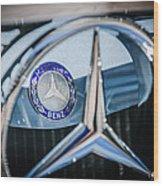 1968 Mercedes-benz 280 Sl Roadster Emblem -0919c Wood Print