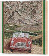 Mountain Rallying In A 1968 M G B  Wood Print