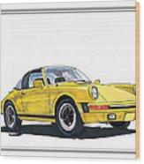 1968 Porsche Targa Wood Print