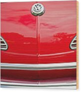 1968 Volkswagen Karmann Ghia Convertible Hood Emblem Wood Print