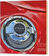 1969 Charger Fuel Cap Wood Print