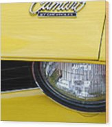 1969 Chevrolet Camaro Emblem -0241c Wood Print