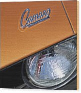 1969 Chevrolet Camaro Headlight Emblem Wood Print by Jill Reger