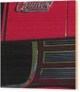 1969 Chevrolet Camaro Rally Sport Emblem Wood Print