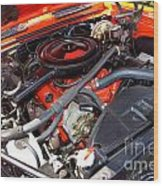 1969 Chevrolet Camaro Rs - Orange - 350 Engine - 7567 Wood Print