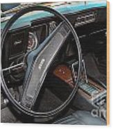 1969 Chevrolet Camaro Rs - Orange - Interior - 7601 Wood Print