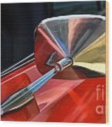 1969 Chevrolet Camaro Rs - Orange - Side Mirror - 7588 Wood Print