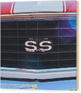 1969 Chevrolet Camaro Rs-ss Indy Pace Car Replica Grille Emblem Wood Print
